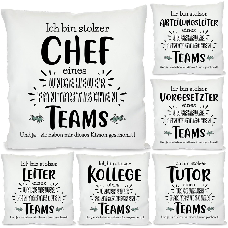 Kissen: Ich bin stolzer Chef / Abteilungsleiter / Vorgesetzter / Leiter / Tutor / Kollege
