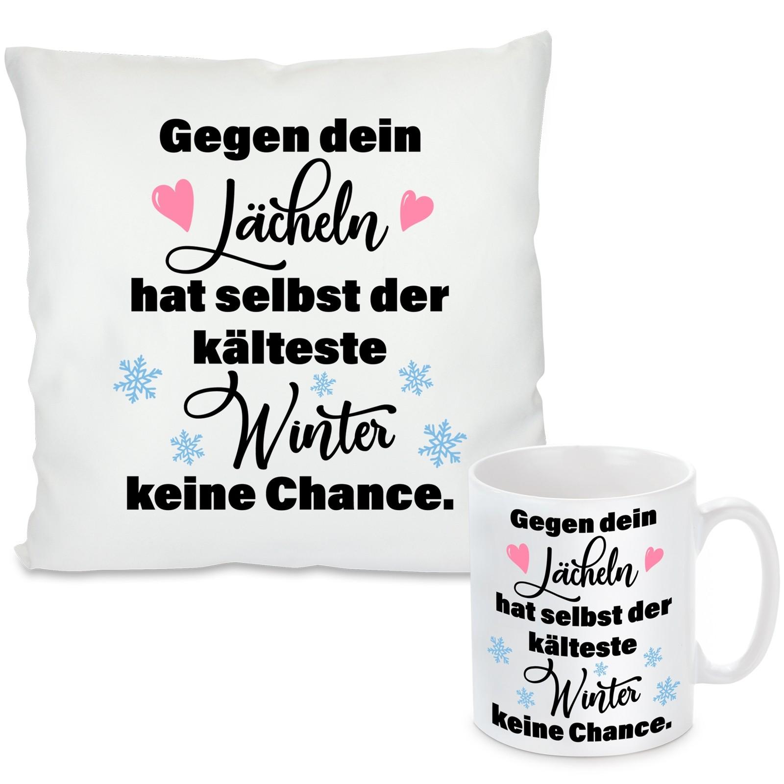 Kissen oder Tasse mit Motiv - Der kälteste Winter