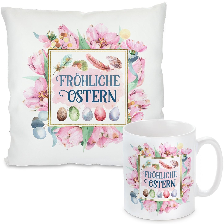 Kissen oder Tasse: Fröhliche Ostern
