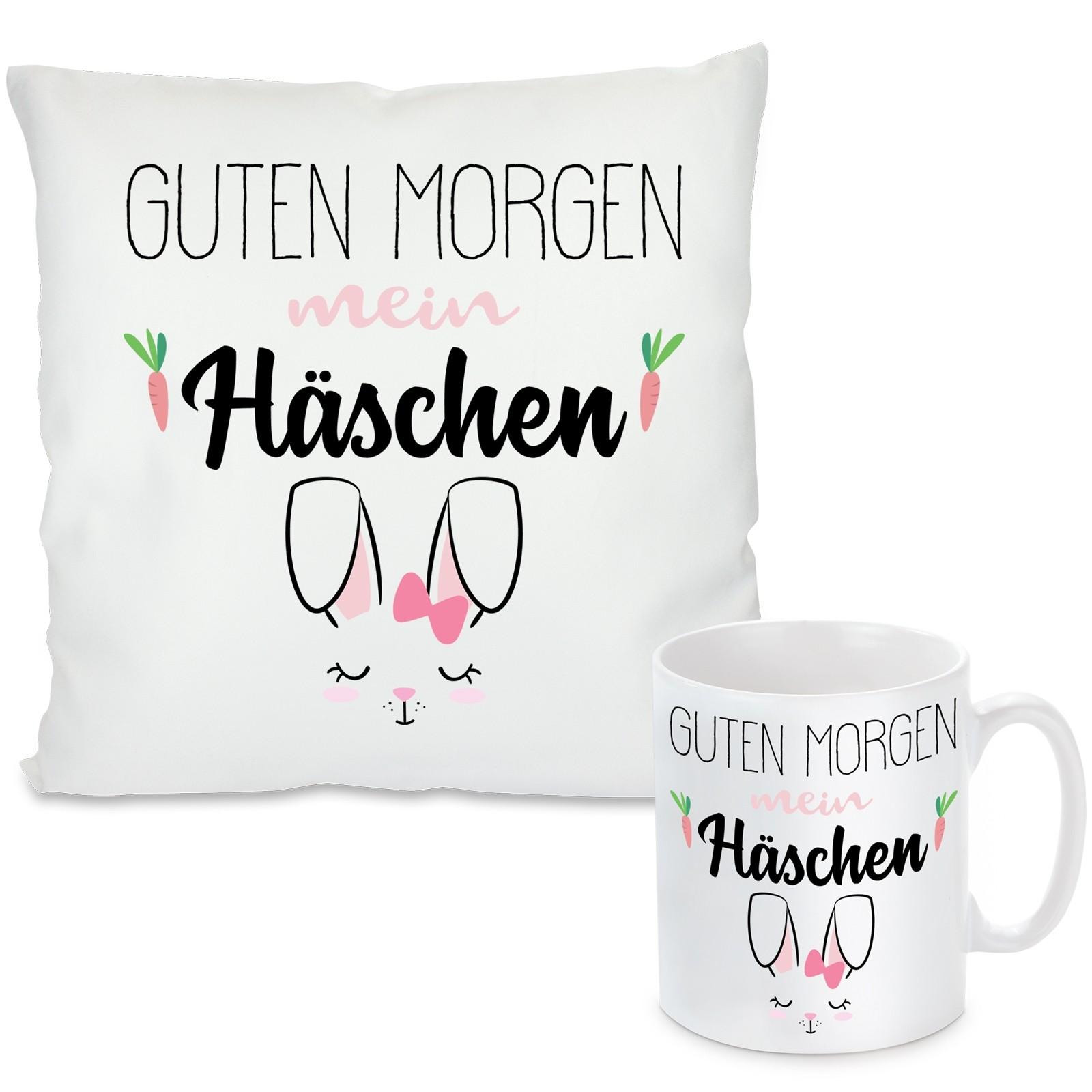 Kissen Oder Tasse Mit Motiv Guten Morgen Mein Häschen