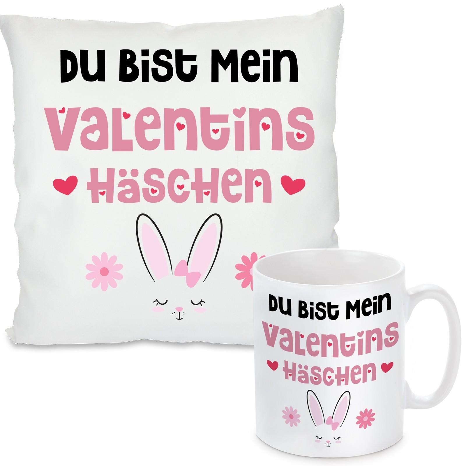 Kissen oder Tasse: Valentinshäschen