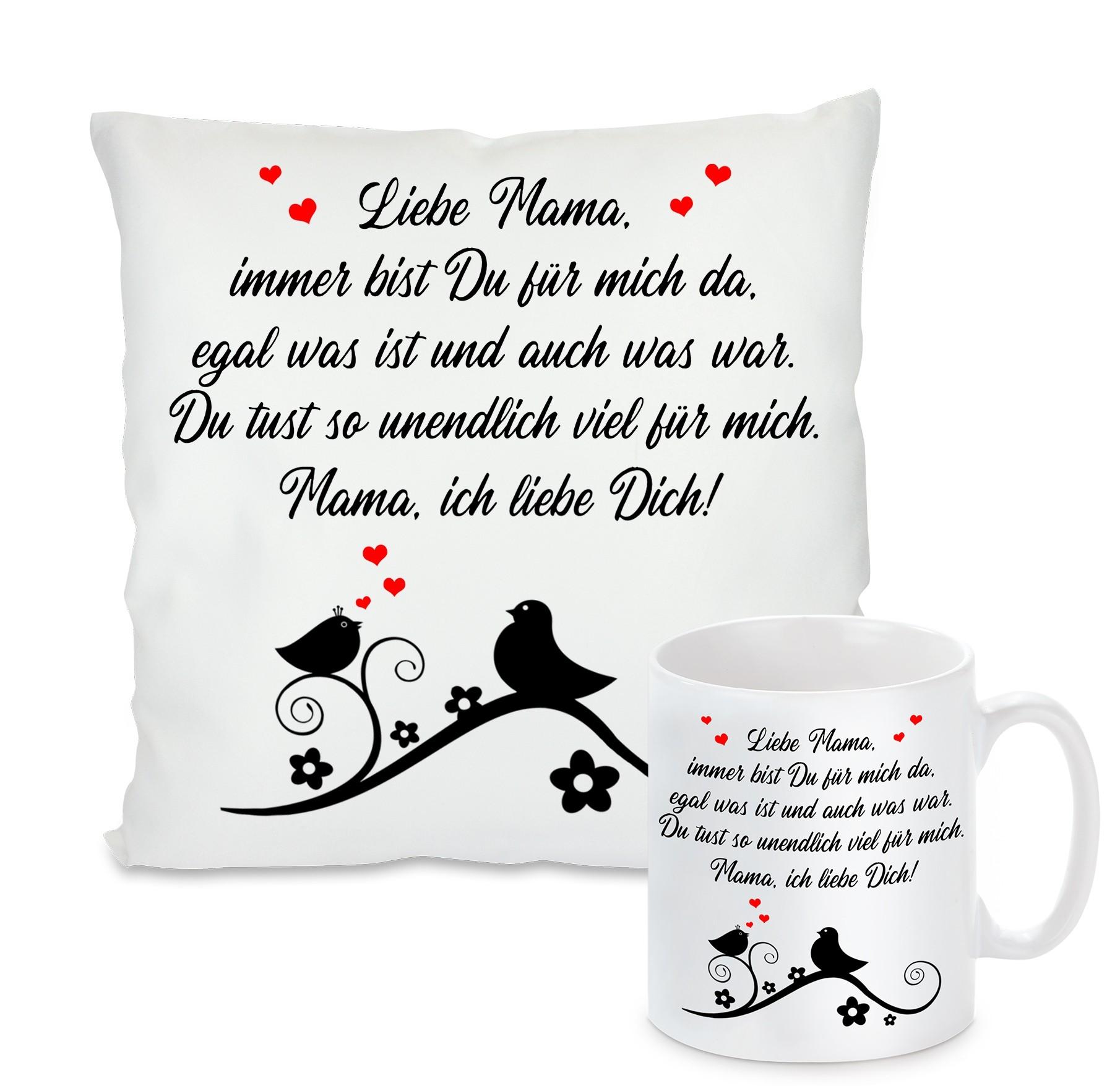 Kissen oder Tasse: Liebe Mama