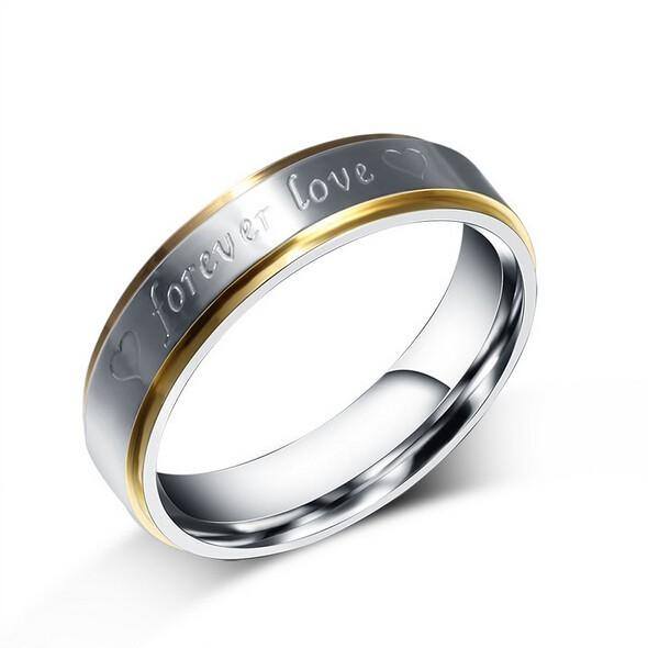 Partnerring / Ehering - forever love - silber/silber
