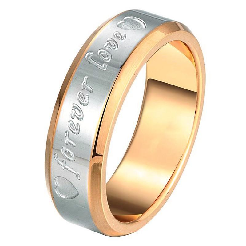 Partnerring / Ehering - forever love - gold/silber