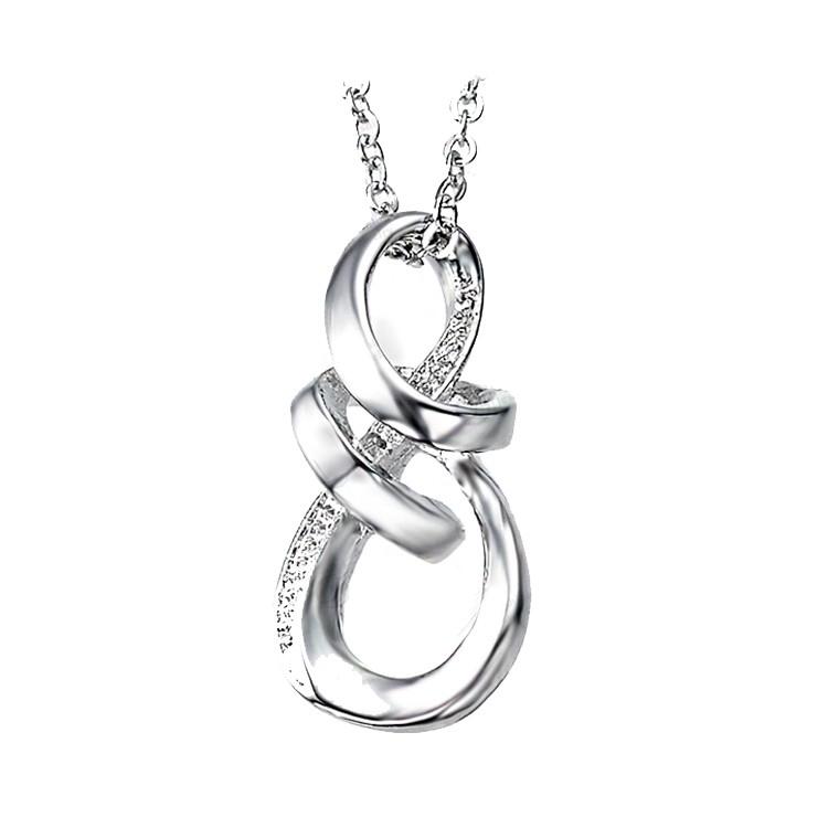 Halskette silberfarben mit Infinityanhänger