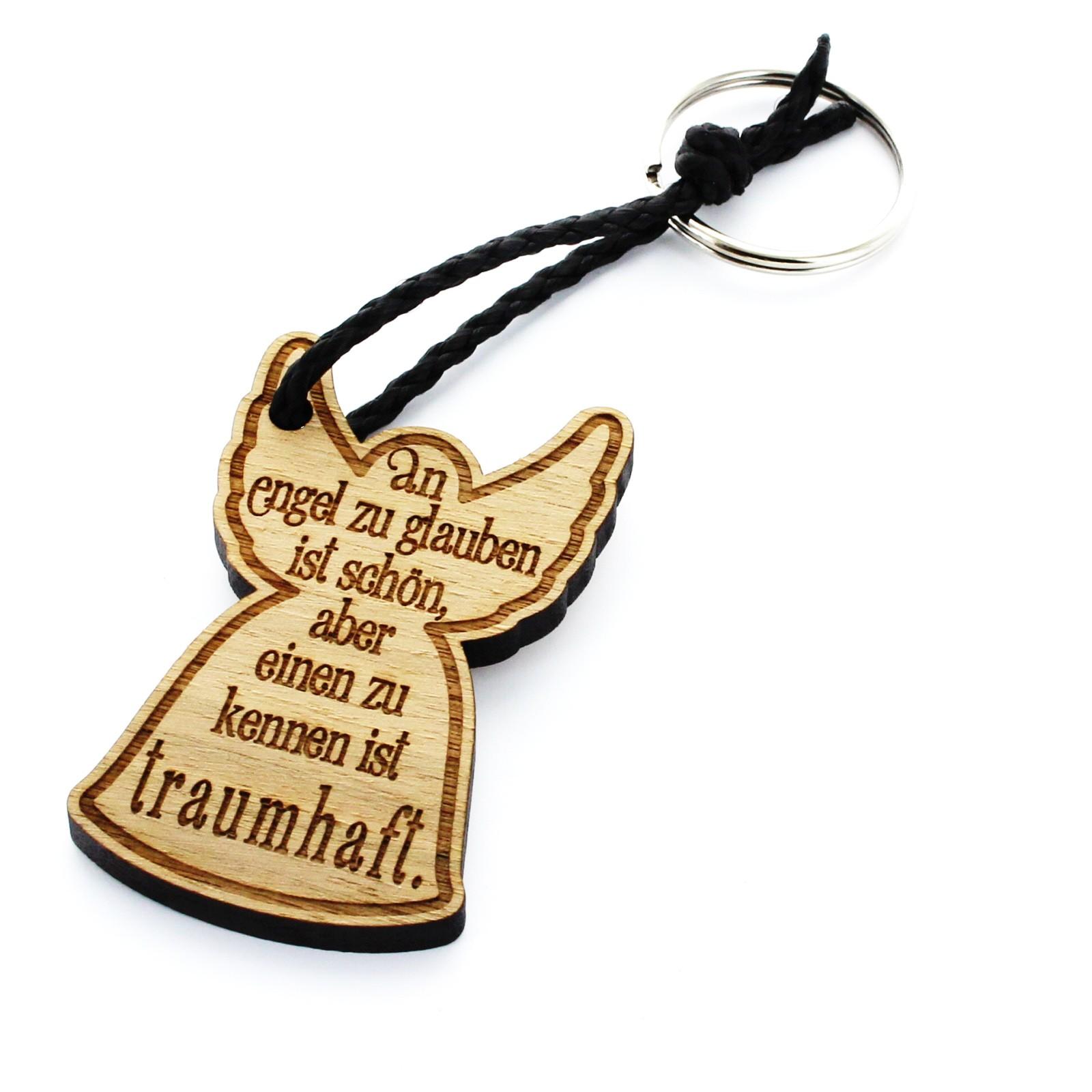 Holz Schlüsselanhänger Modell: Einen Engel zu kennen
