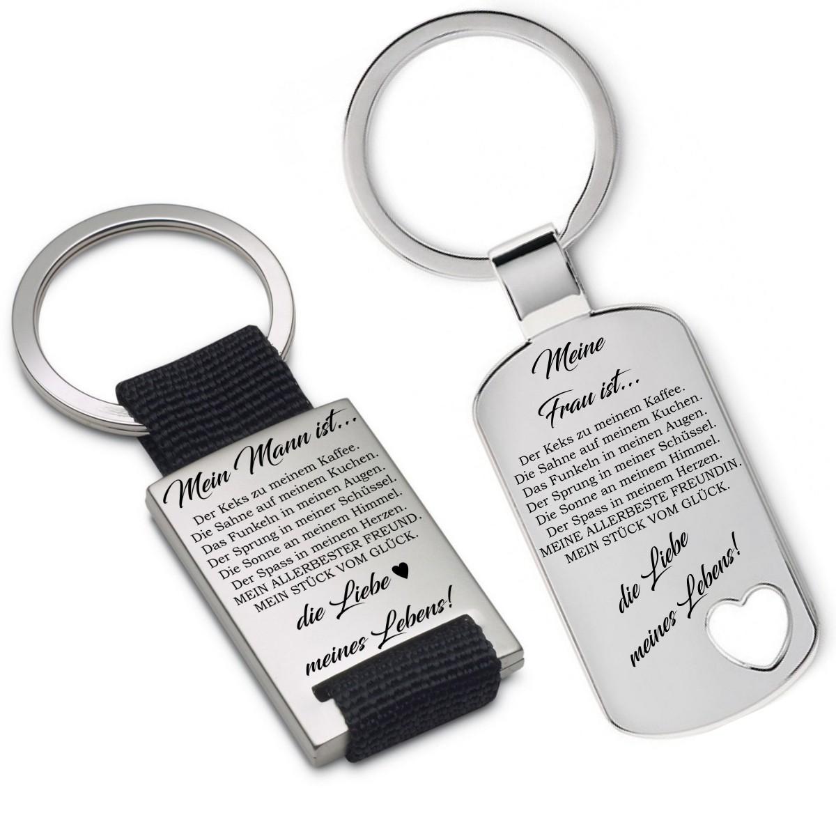 Schlüsselanhänger: Mein(e) Frau/Mann/Freundin/Freund ist...
