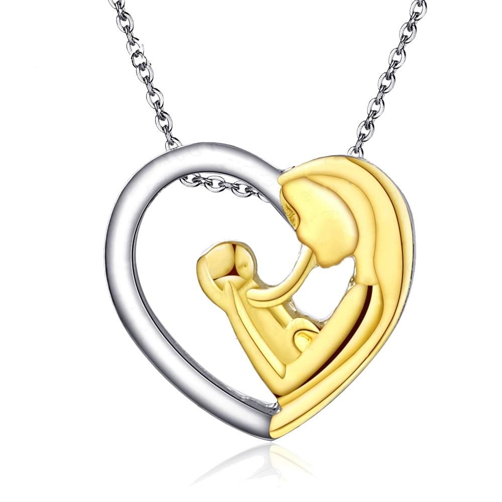 """Halskette mit Anhänger """"Mutter mit Baby"""""""