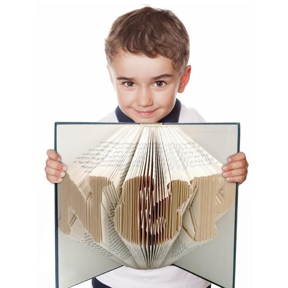 Gefaltetes Buch mit Namen / Wunschtext *persönlich & handgearbeitet*