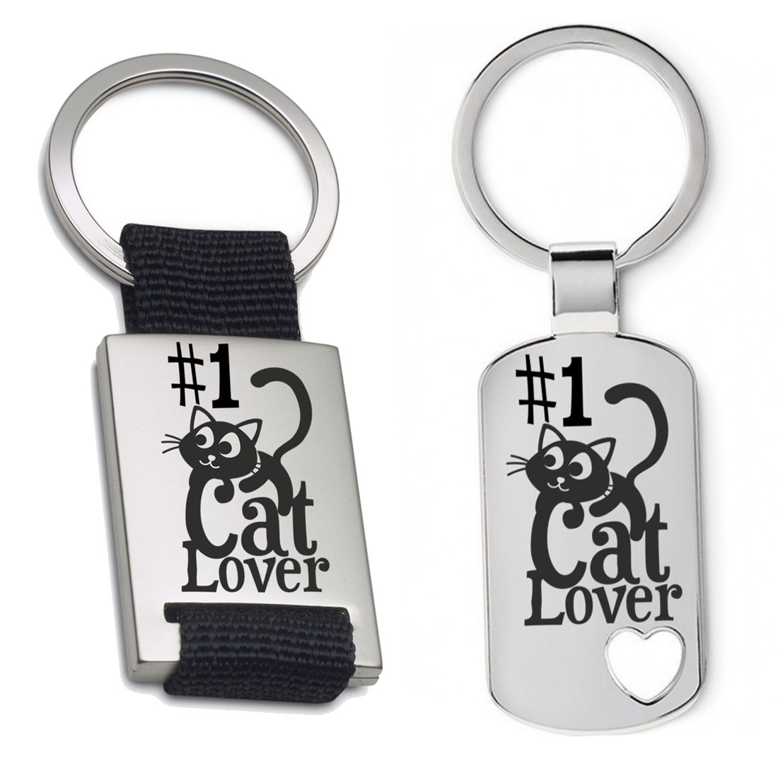 Schlüsselanhänger: #1 Cat lover
