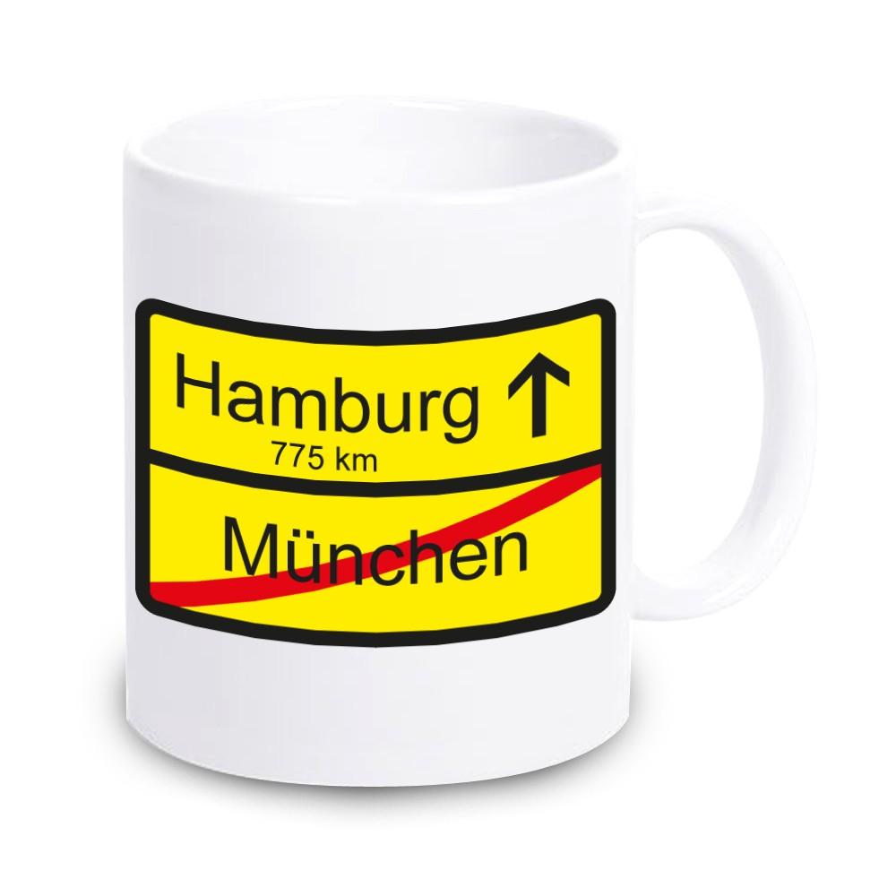 Tasse für neue Wohnung