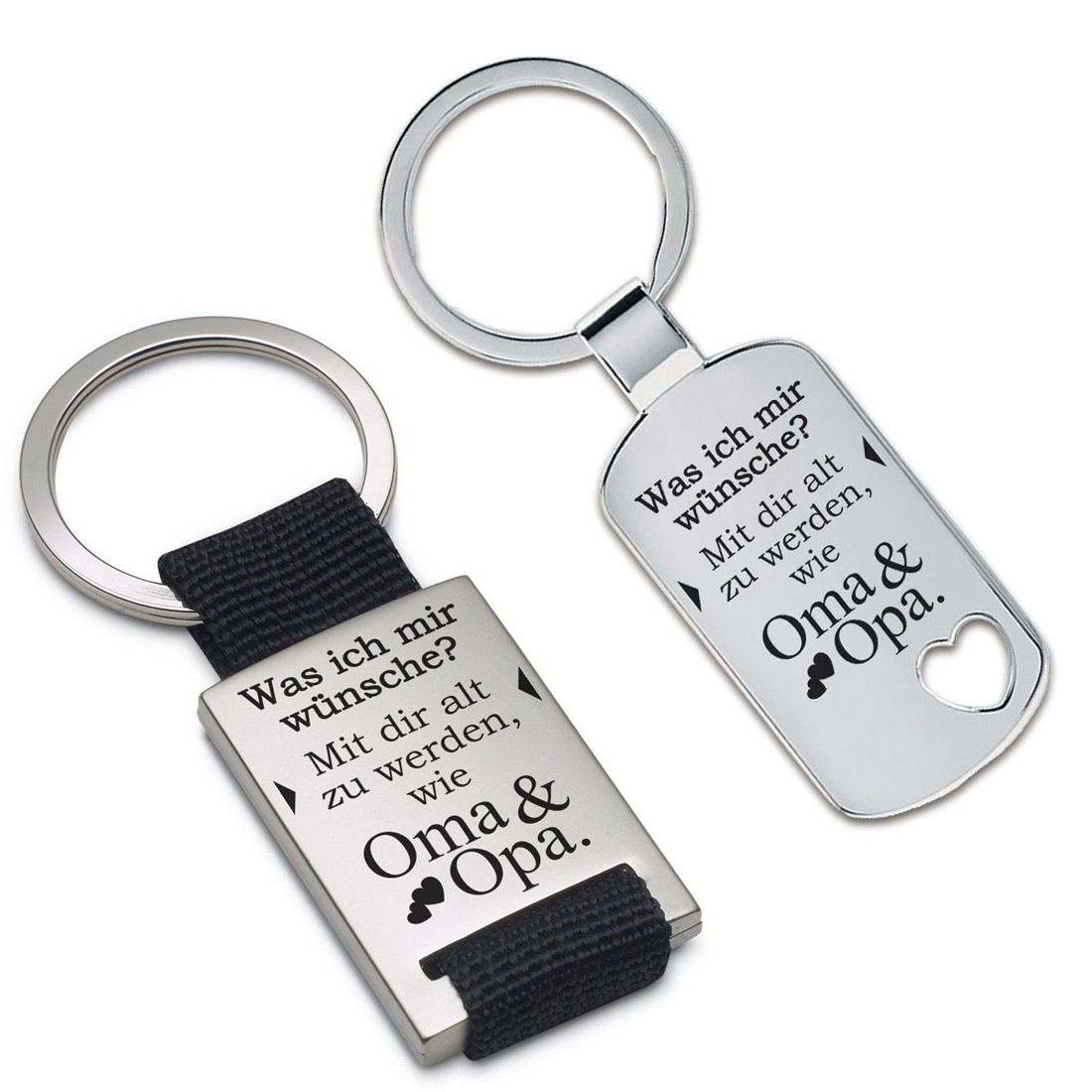Schlüsselanhänger Set für Oma und Opa