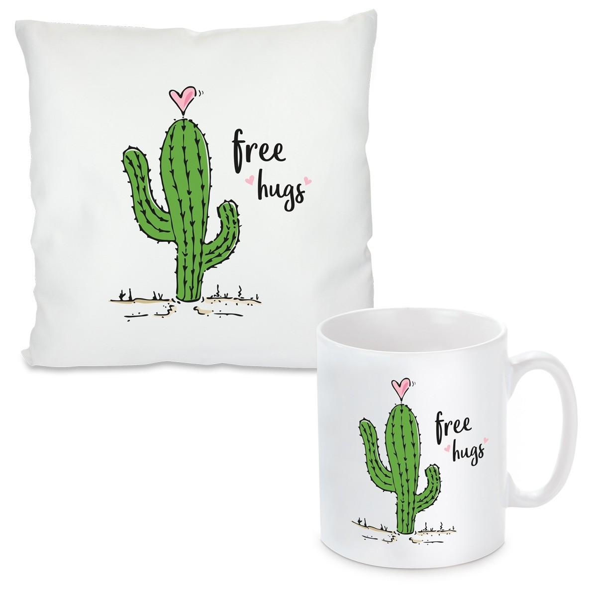 kissen oder tasse mit motiv modell free hugs. Black Bedroom Furniture Sets. Home Design Ideas