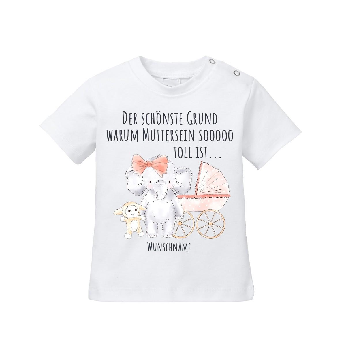 Babyshirt: Der schönste Grund warum Muttersein so toll ist... (personalisierbar)