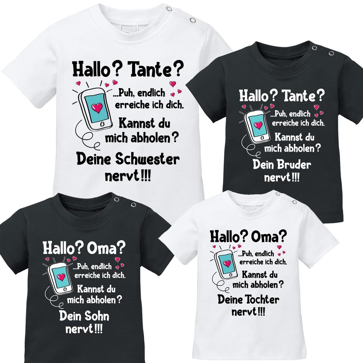 Babyshirt: Hallo? Tante / Oma?