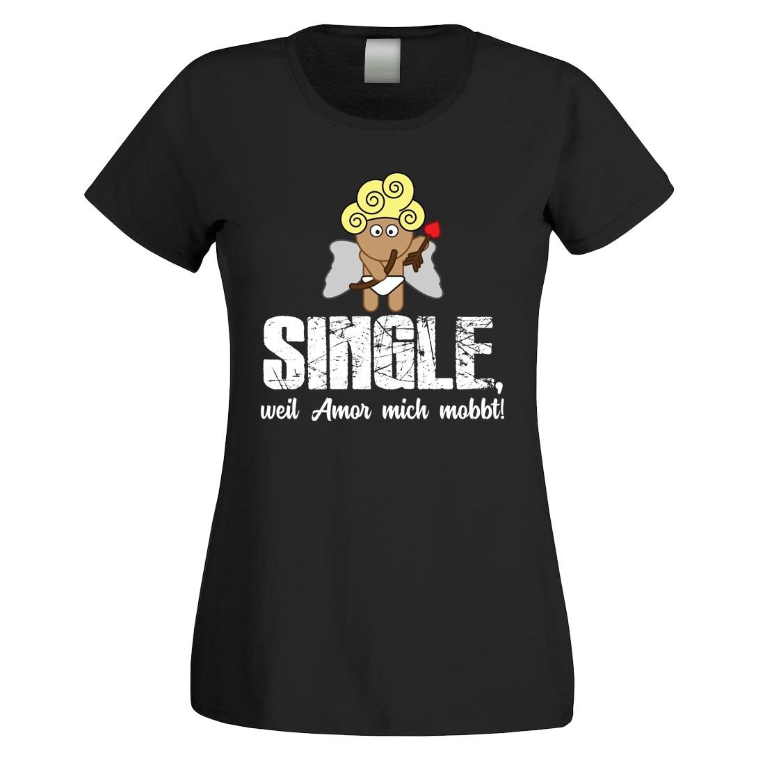 Funshirt oder Tanktop: Single, weil Amor mich mobbt!