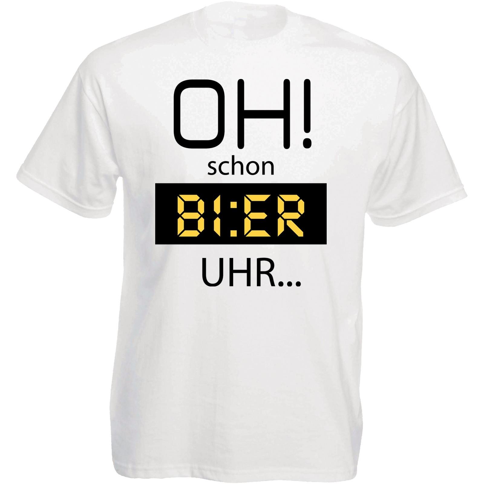 Funshirt oder Tanktop: Oh! schon Bier Uhr.