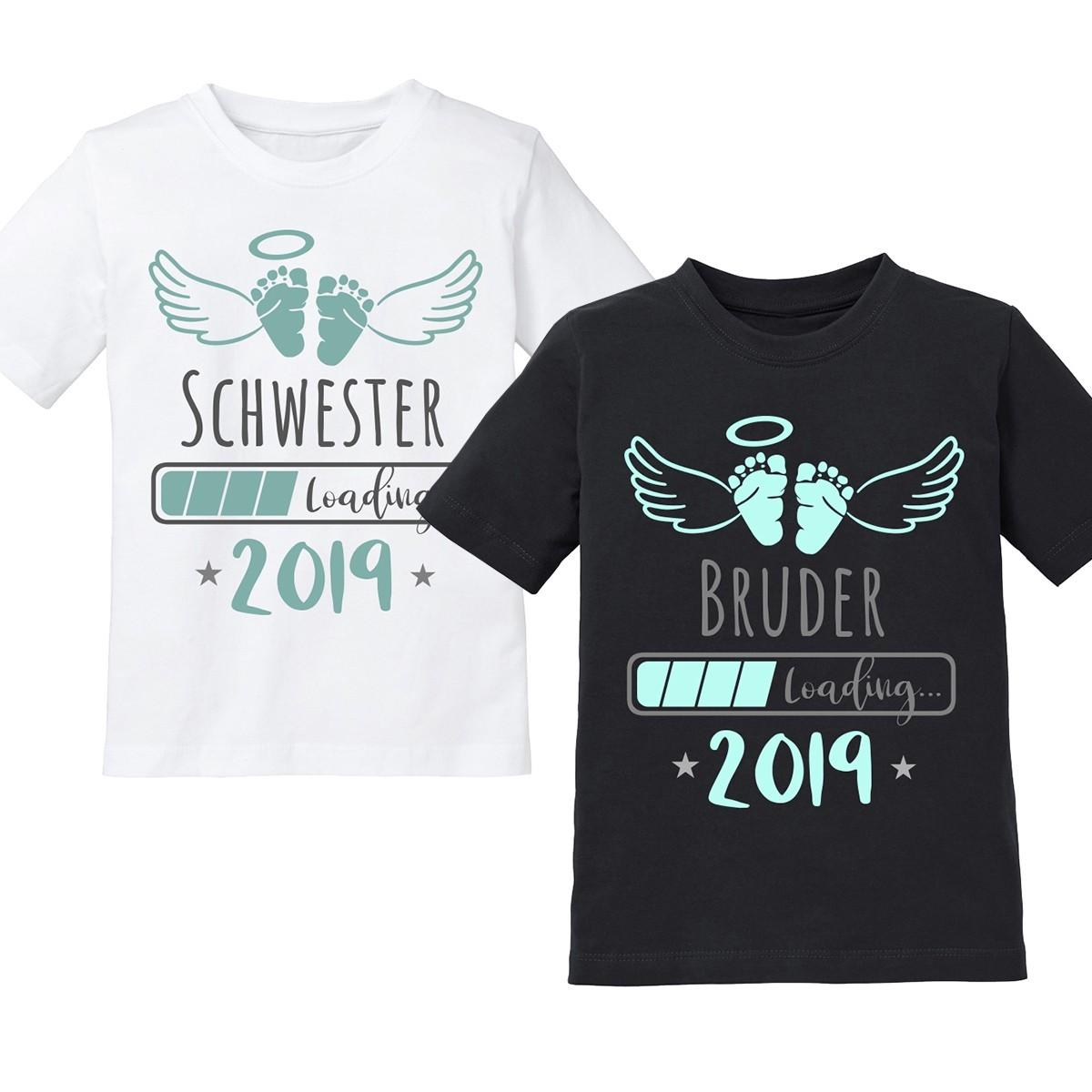 Kinder T-Shirt Modell:  2019 Schwester / Bruder LOADING...