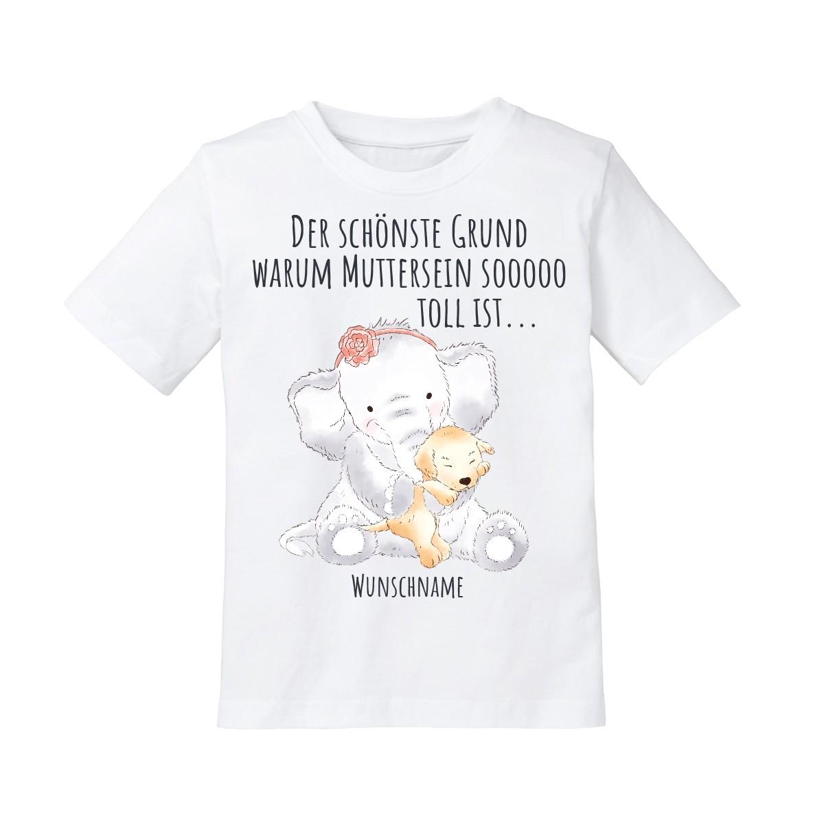 Kinder T-Shirt Modell: Der schönste Grund warum Muttersein so toll ist... (personalisierbar)
