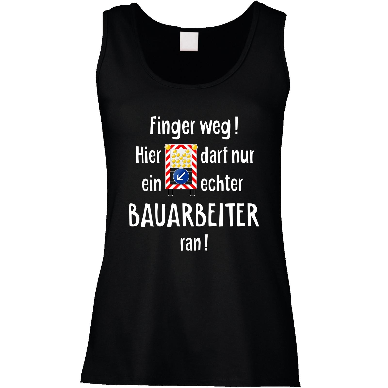 Funshirt oder Tanktop: Finger weg! (Bauarbeiter)