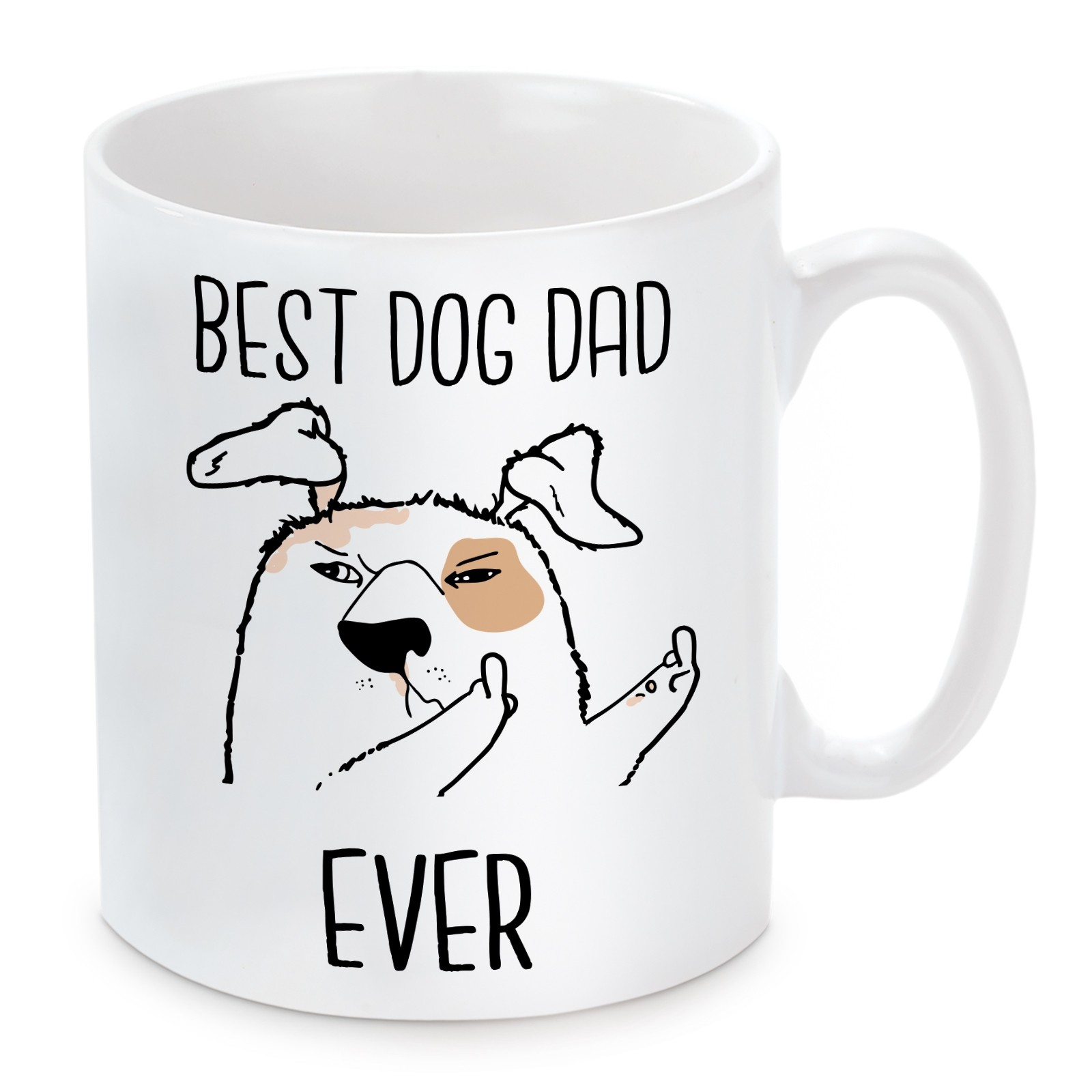 Tasse Modell: Best Dog Dad Ever.