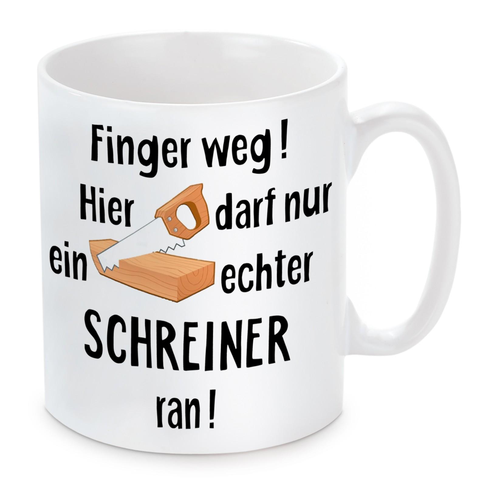 Tasse: Finger weg! (Schreiner)