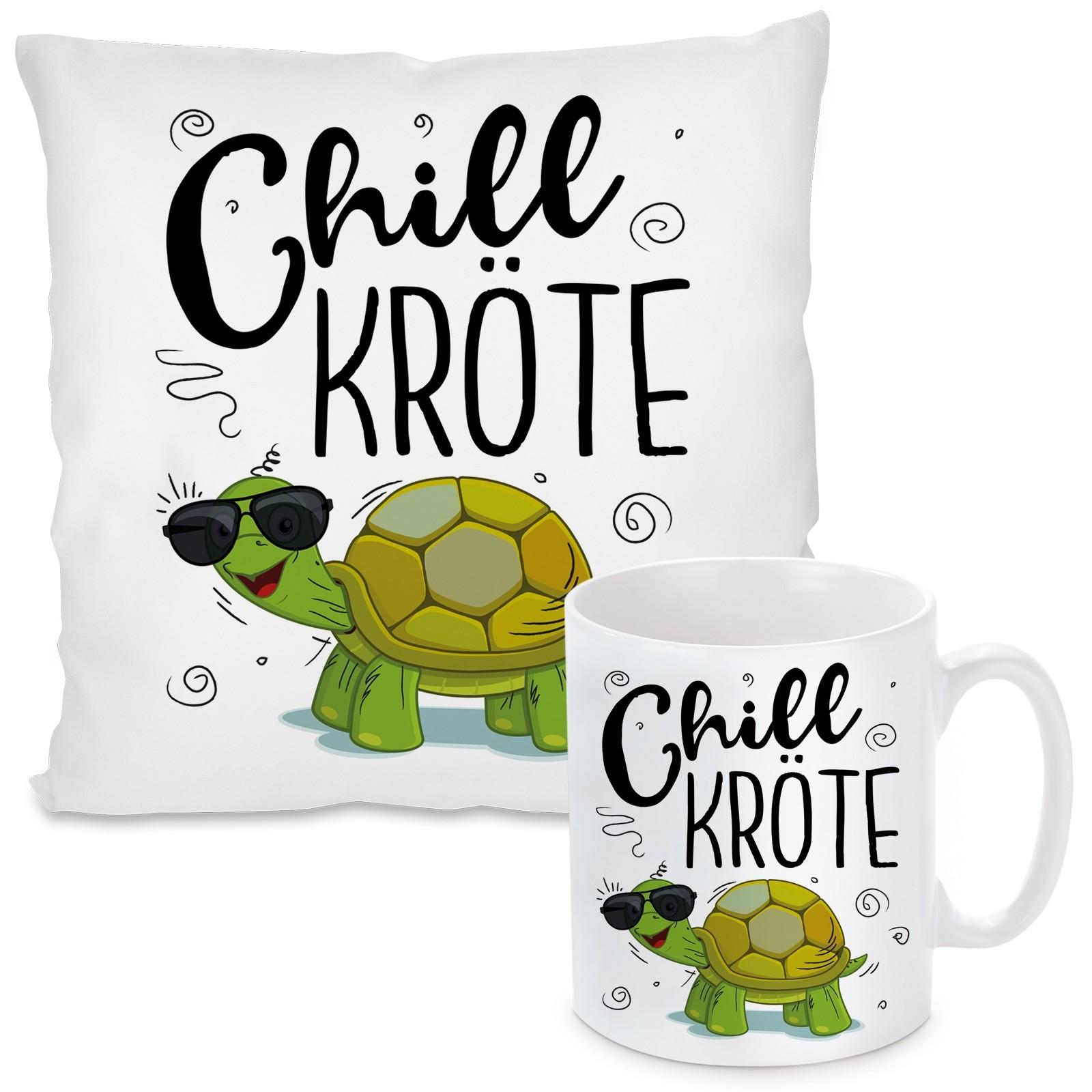 Kissen oder Tasse: Chillkröte.