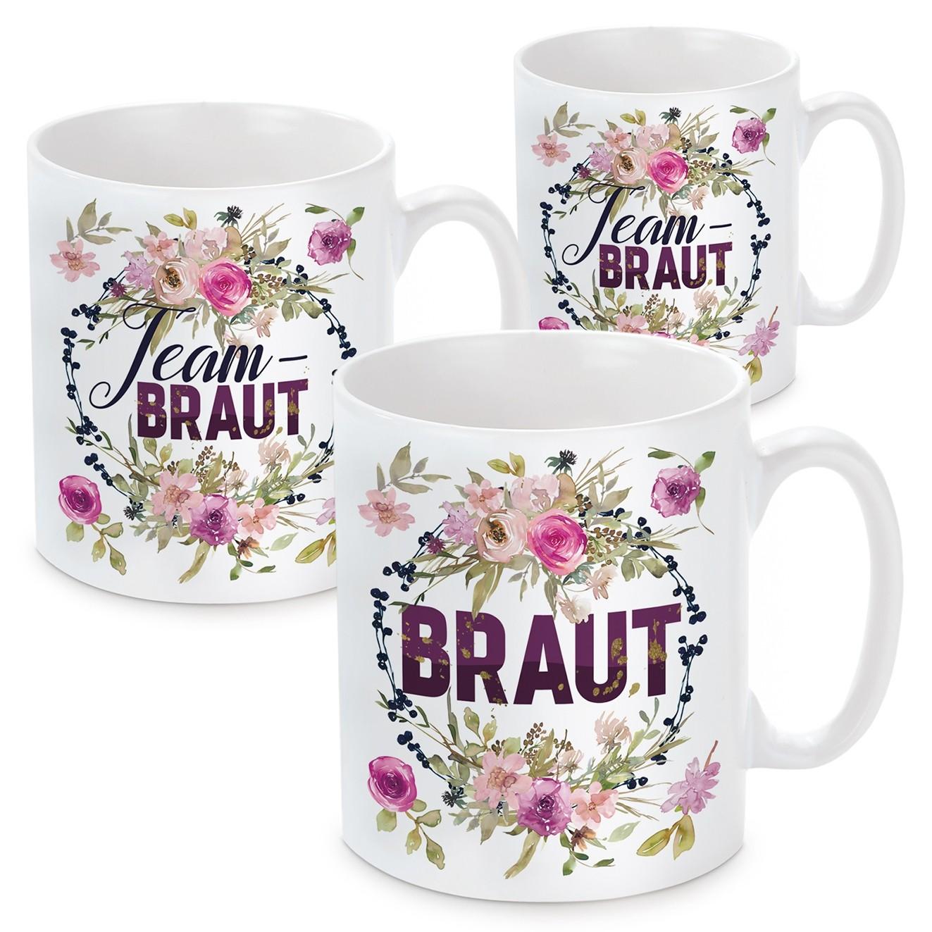 Tassen zum Junggesellinnenabschied - Braut - Team Braut