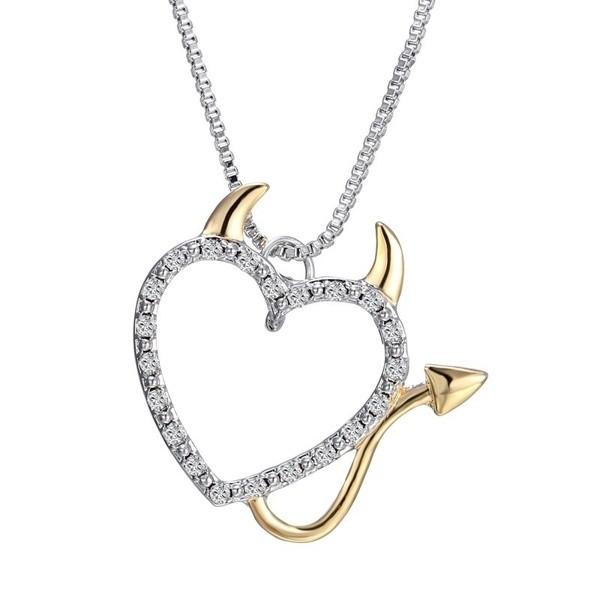 Halskette Herz Teufelchen