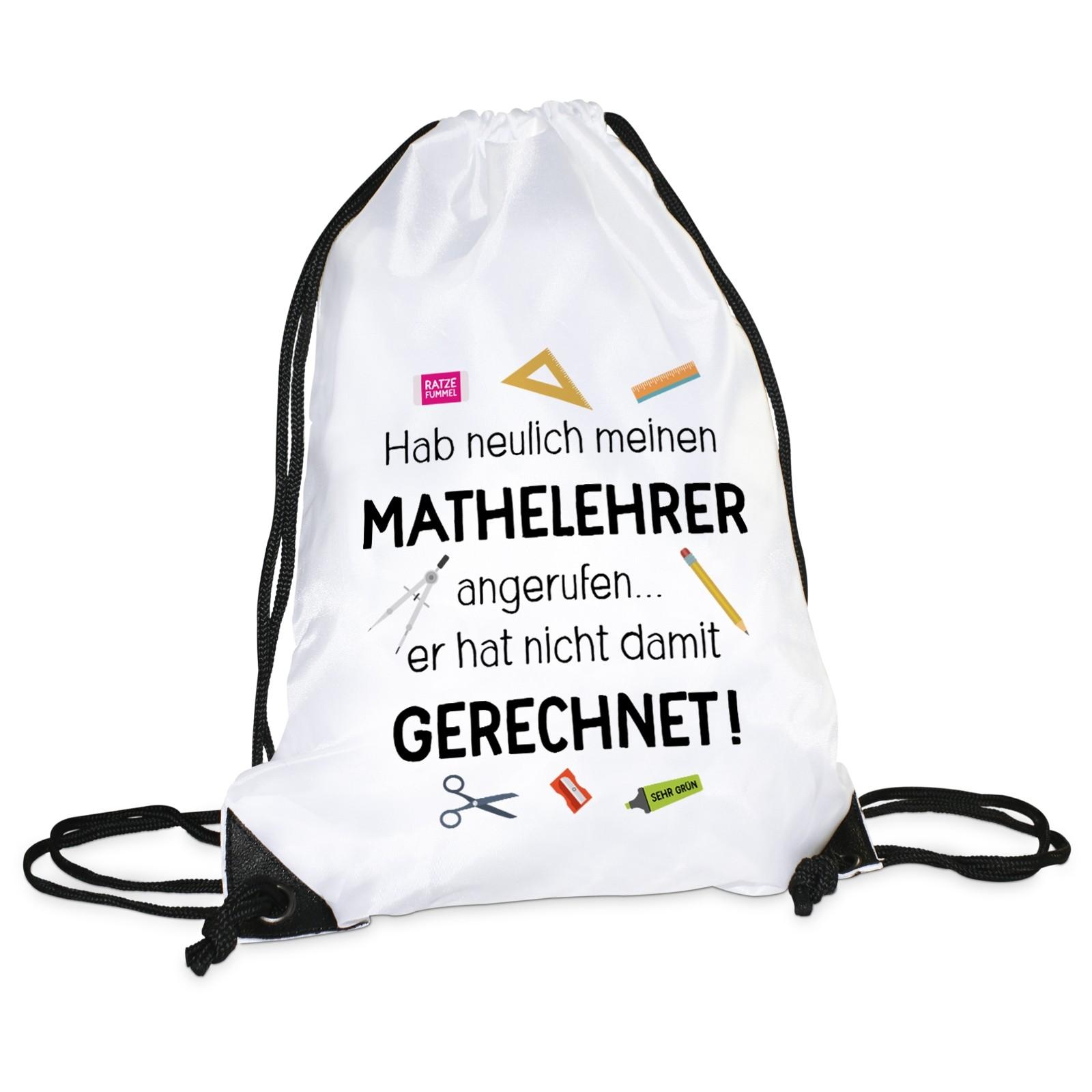 Turnbeutel: Mathelehrer