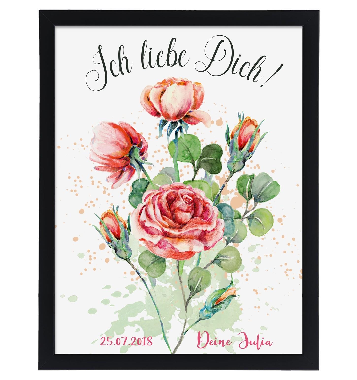 Wandbild: Ich liebe Dich (personalisierbar)