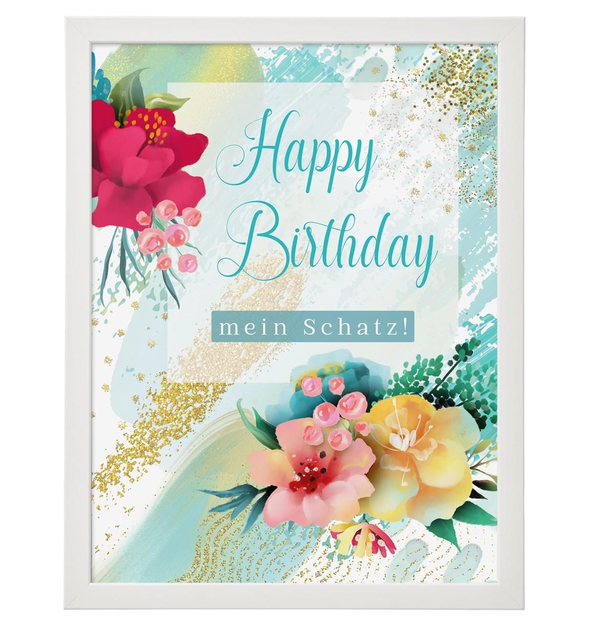 Wandbild: Happy Birthday
