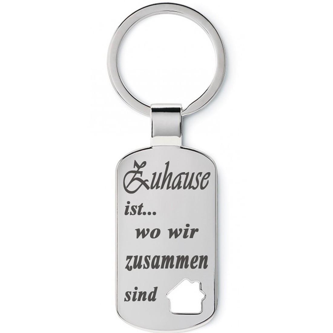 Metall Schlüsselanhänger Modell: Zuhause ist...