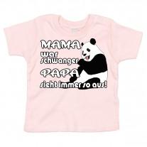 Kinder - Babyshirt Modell: Mama war schwanger