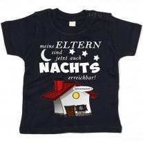 Kinder - Babyshirt Modell: Meine Eltern sind jetzt auch Nachts erreichbar