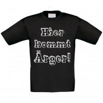 Kinder T-Shirt Modell: Hier kommt Ärger