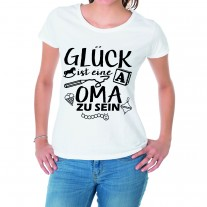 Damen T-Shirt Modell: Glückliche Oma