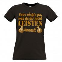 Damen T-Shirt Modell: Fass nichts an...