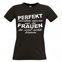 Damen T-Shirt Modell: Perfekt aussehen