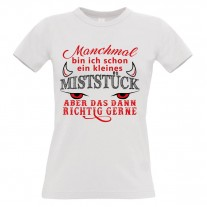 Damen T-Shirt Modell: kleines Miststück