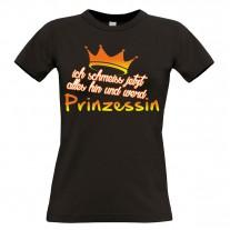 Damen T-Shirt Modell: Ich schmeiss jetzt alles hin...