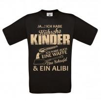Herren T-Shirt Modell: Hübsche Kinder