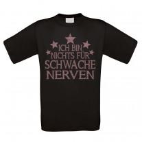 Herren T-Shirt Modell: Ich bin nichts für schwache Nerven