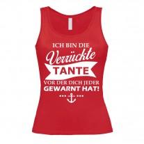 Damen Tank Top Modell: Verrückte Tante
