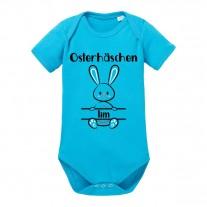 Babybody: Osterhäschen (Jungs, personalisierbar)