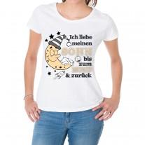 Damen T-Shirt Modell: Ich liebe meinen Sohn
