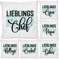 Kissen: Lieblings-Kollege / Chef / Freund / Papa / Opa ...