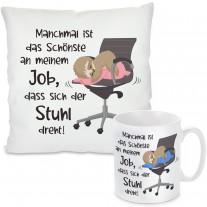 Kissen oder Tasse: Das Schönste an meinem Job