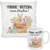 Kissen oder Tasse: Frohe Ostern, mein Häschen!