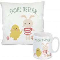 Kissen oder Tasse: Frohe Ostern